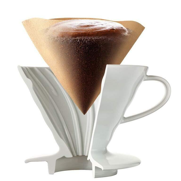Hario V60 Ceramica  - Coador de Café em Cerâmica hario V-60 02 Branco