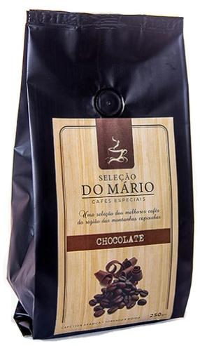 Kit Cafeteira Balança Espumador Pressca Marrom + Café Mario