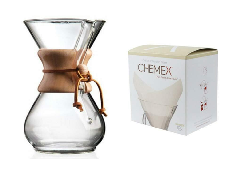 Kit Chemex 6 Xicaras  1 Jarra Chemex + 1 Filtro Chemex 100 unid