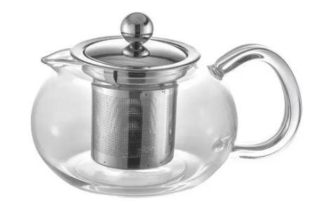 Kit Copo Térmico e Bule para Chá com Infusor