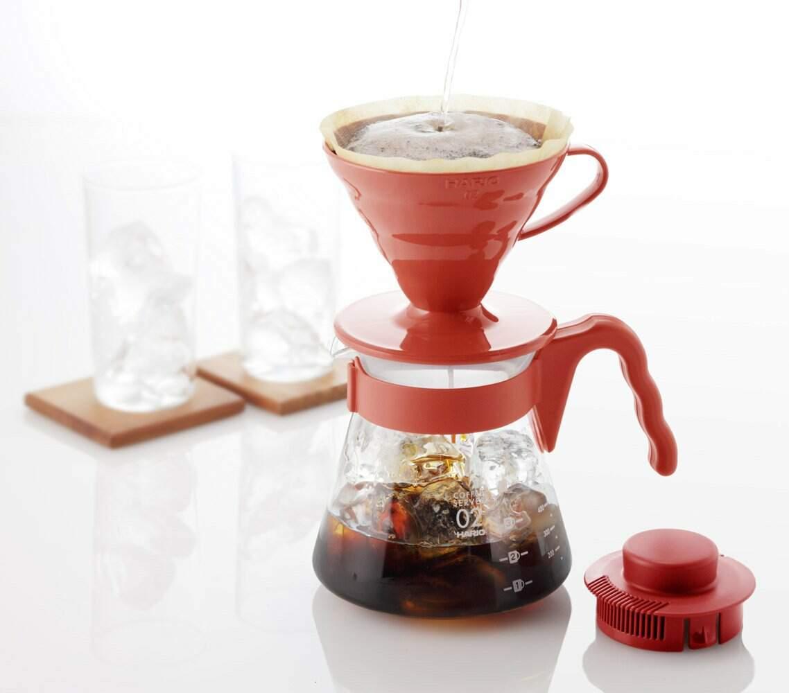 Kit Hario V60 Vermelho 02 - Kit café especial Hario V60