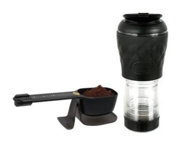 Kit pressca café e balança dose certa preta