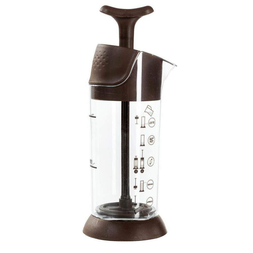 Kit Pressca para café mais espumador de leite Marrom