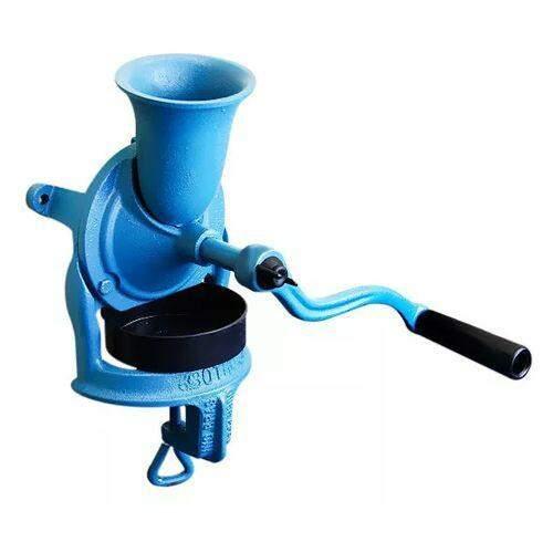 Moedor de café manual de ferro - Moinho Manual de café - Cor Azul