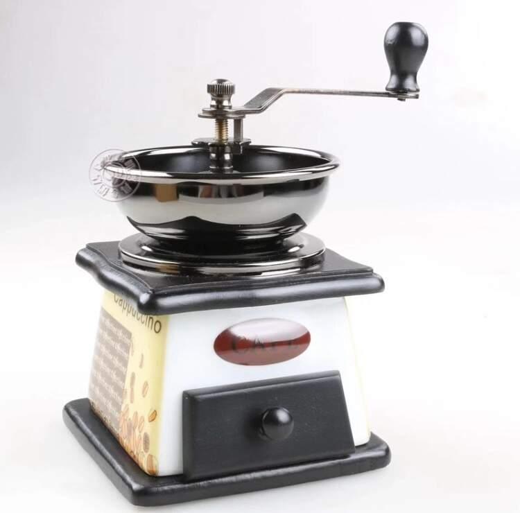 Moedor de café manual gavetinha branco para uso individual ou decorativo