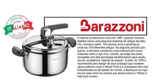 Panela De Pressão 7 litros Barazzoni Inox Italiana
