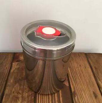 Pote em inox para armazenar café - Hermético - Médio - 250g
