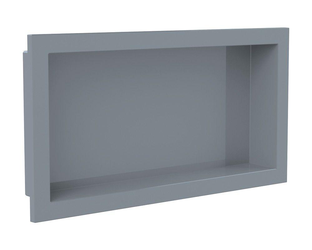 NICHO PARA BANHEIRO PVC EMBUTIR METASUL 30X60 CINZA URBANO