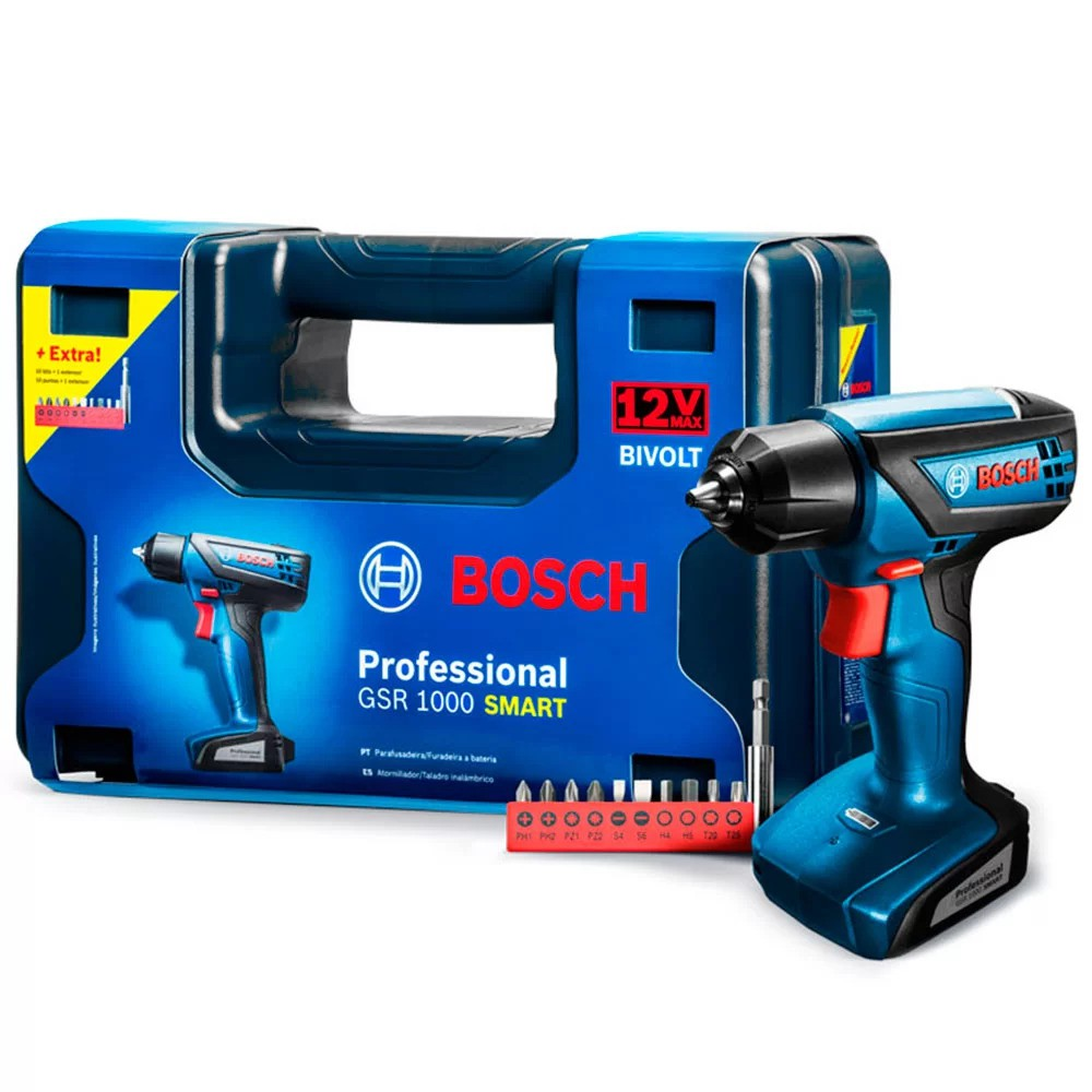 PARAFUSAD BOSCH LITIO GSR1000 SMART CX