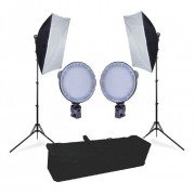Kit Estúdio Iluminador LED Circular 126 com Softbox 50x70cm - 600w