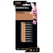 Pilha Alcalina Pequena AAa Duracell - BT 16 UN