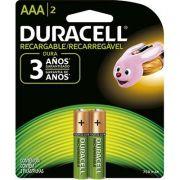 Pilha Recarregavel Duracell AAA 750mah
