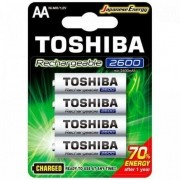 Pilha Recarregável Toshiba 2600mah Aa C/4 Unid