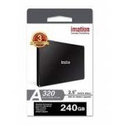 SSD Imation A320, 240GB, Sata III, Leitura 550MBs e Gravação 500MBs