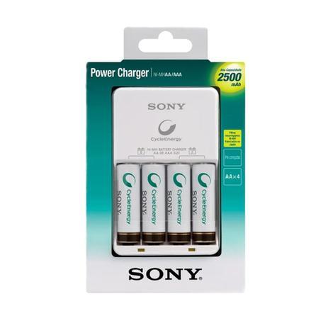 Carregador de Pilhas 2500mAh c/ 4 Pilhas - Sony