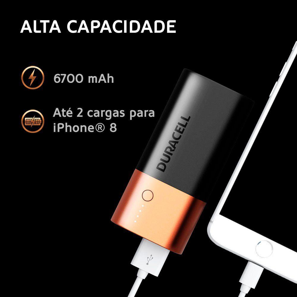 Carregador Portátil Power Bank p/Smartphone 6.700mAh
