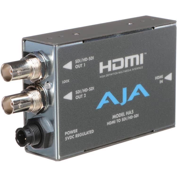 Conversor de Vídeo e Áudio HDMI para SD/HD-SDI HA5