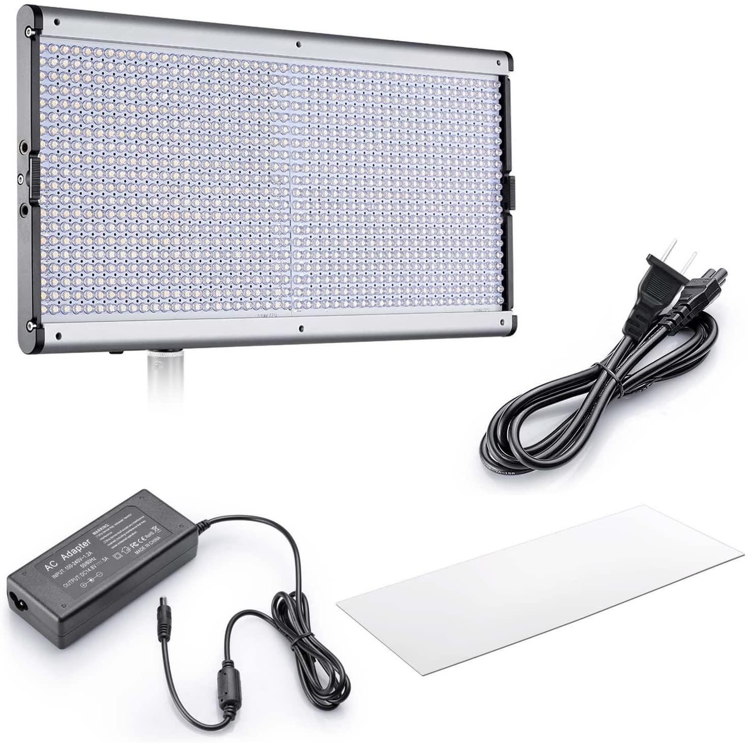 Iluminador LED Greika JYLED-1000S + Fonte AC e Bolsa