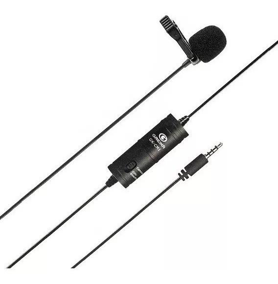 Microfone Lapela Cameras e Smartphones Greika GK-LM1