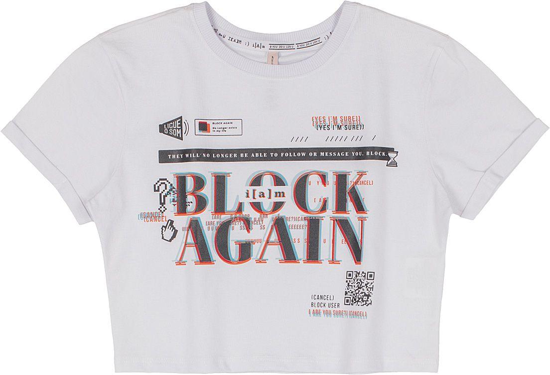 BLUSA MALHA TEEN BLOCK AGAIN