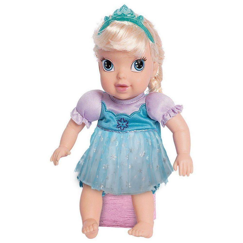 BONECA BABY ELSA - VINIL C/ CABELO