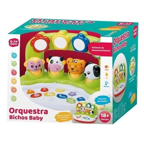 BRINQUEDO MUSICAL ORQUESTRA BICHOS BABY - DM Toys