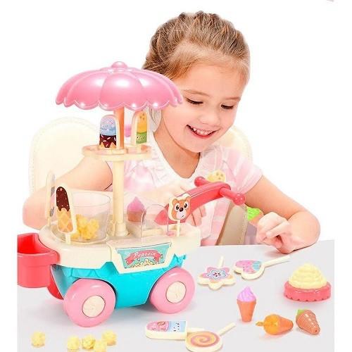 CARROCINHA DE PIPOCA BATE E VOLTA GIRA GIRA - DM Toys