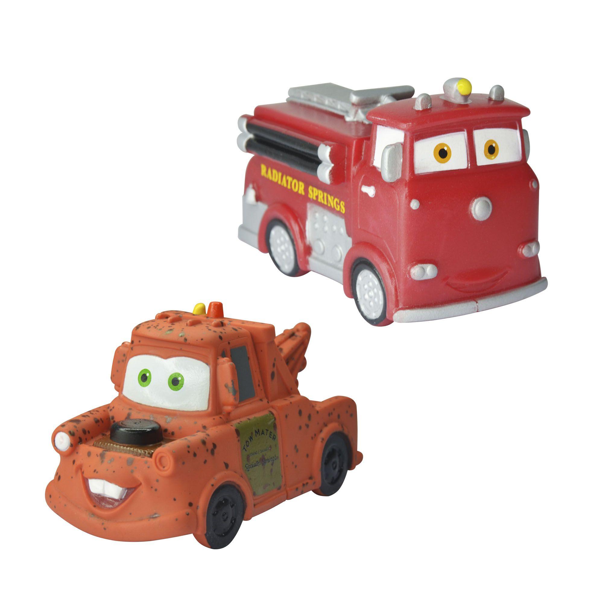 Coleção Mini Vinil Carros Tow Matter e Red