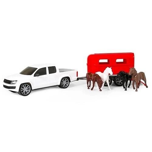 Pick up com Trailer para Cavalos Força e Ação Poliplac