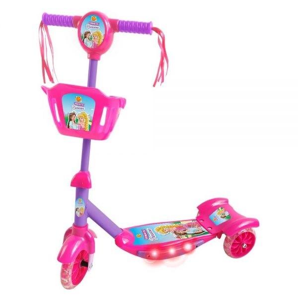 PATINETE COM CESTA SONHO DE PRINCESA - DM Toys