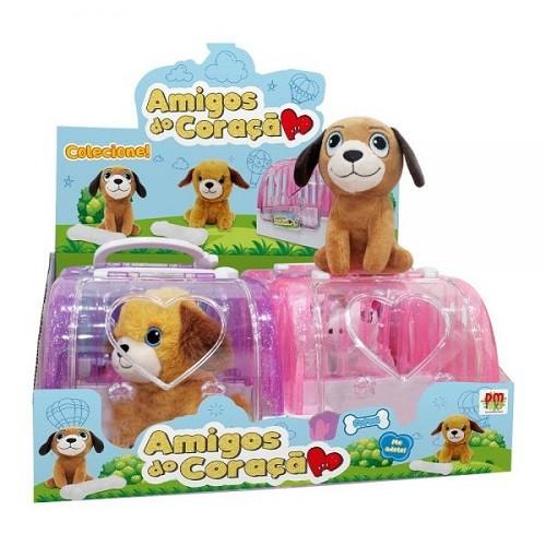 Pelúcia Cachorrinho Amigos do Coração - DM Toys (sortidos)