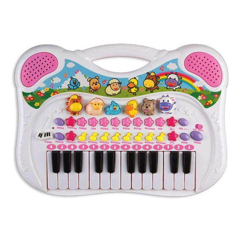 PIANO MUSICAL ANIMAL ROSA