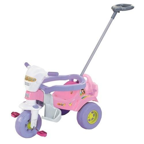Triciclo Infantil Bichos Rosa sem Som