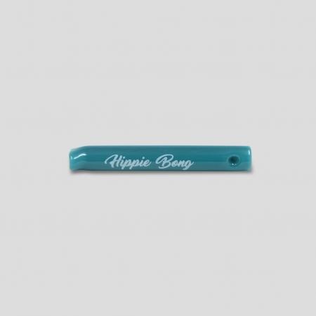 Piteira de vidro colorida - Agua Azul