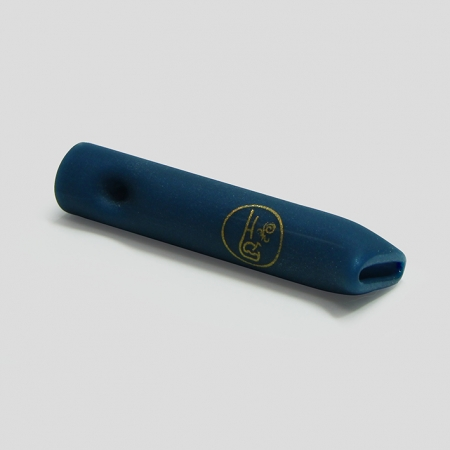 Piteira de vidro sandblast azul