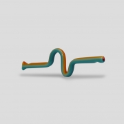 Piteira de Vidro Snake Rainbow