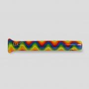 Piteira de vidro wig-wag arco-íris