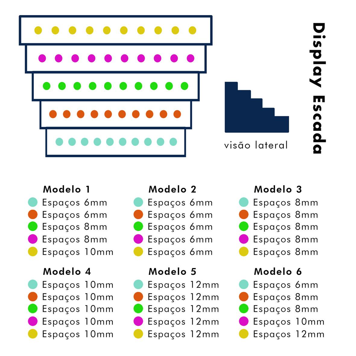Display de Madeira Escada