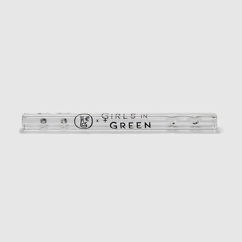 Piteira de vidro alongada Girls in Green