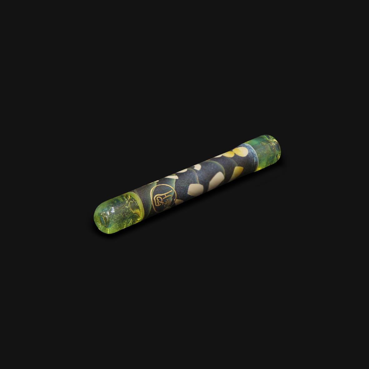 Piteira de Vidro Drop Engraved Stoned - #12