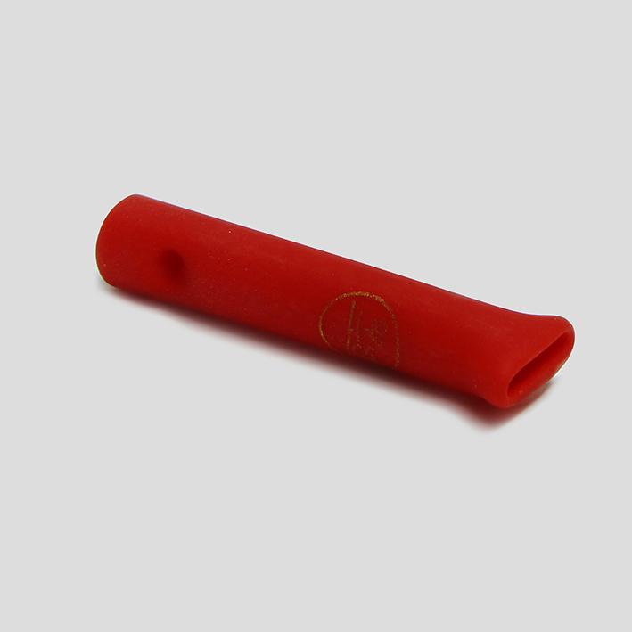 Piteira de vidro sandblast Vermelha