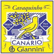 Encordoamento Para Cavaquinho Giannini Canário Gescb (.010.023) Média Com Bolinha