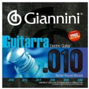 Encordoamento Para Guitarra Giannini Nickel Round Wound Geegst10 (.010.046)