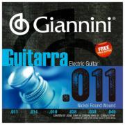 Encordoamento Para Guitarra Giannini Nickel Round Wound Geegst11 (.011.046)