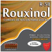 Encordoamento Violao Nylon Tensão Média Rouxinol R58 Bolinha