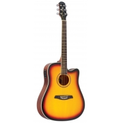 Violão Strinberg Euro London Folk Le-30C Cor Sunburst