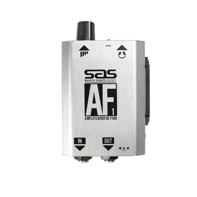 Amplificador Fone Ouvido Santo Angelo Af1 Prata uso fones de ouvido, interligação mesa de som e instrumentos