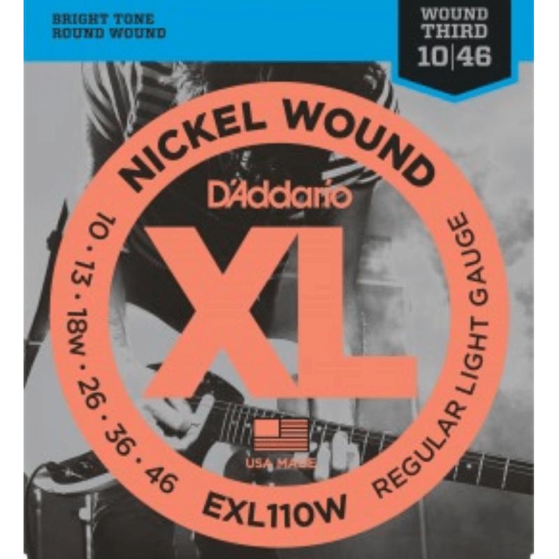 Encordoamento Guitarra D'Addario 010 Exl110