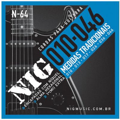 Encordoamento Guitarra Nig N64 .010