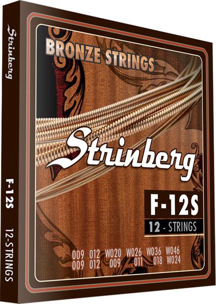 Encordoamento Violao Aço Strinberg 12 Cordas F12S
